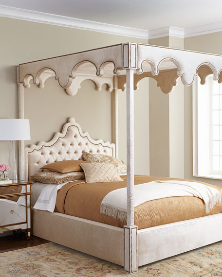 William Queen Canopy Bed & Haute House William Canopy Bed