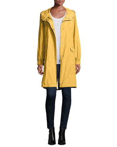 Hooded Long Anorak Jacket, Jersey Long Tank & Organic Soft Stretch Skinny Jeans, Petite
