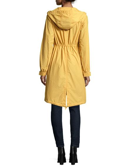 Hooded Long Anorak Jacket, Plus Size