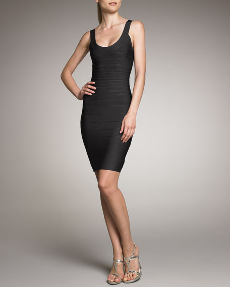 Herve Leger Basic Bandage Dress, Black