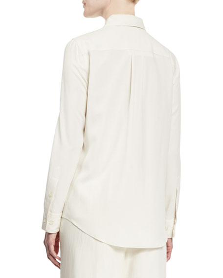 Go silk safari long sleeve silk shirt for Silk long sleeve shirt
