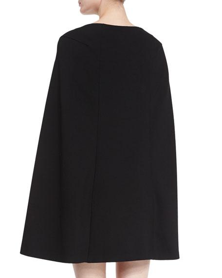 Cape-Style Shift Dress