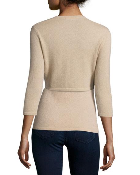 3/4-Sleeve Modern Cashmere Shrug