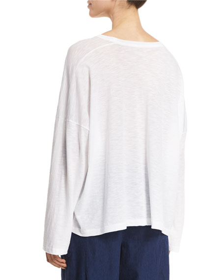 Relaxed Long-Sleeve Crewneck Tee