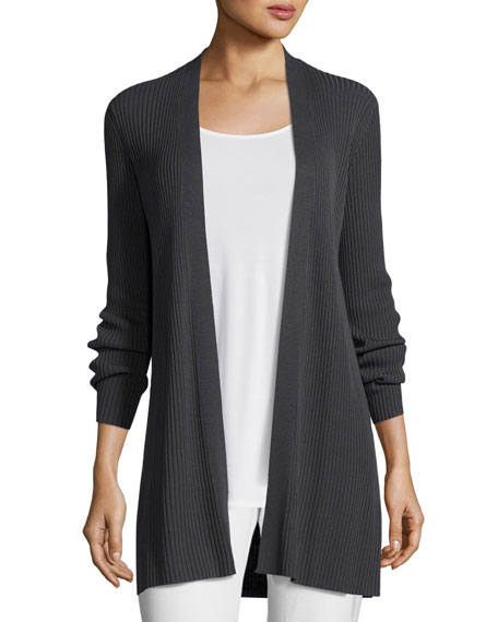 Eileen Fisher Long Sleek Tencel?? Ribbed Cardigan
