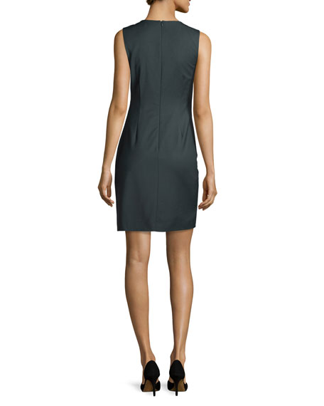 Theory Jorianna Continuous Stretch Sheath Dress, Gray