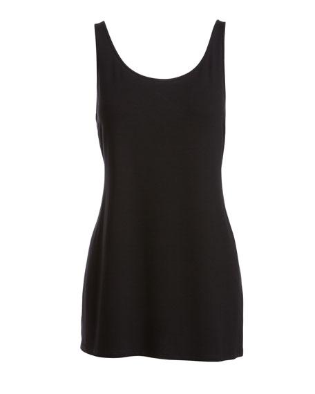 Eileen Fisher Plus Size Sleeveless Scoop-Neck Lightweight Jersey Tank