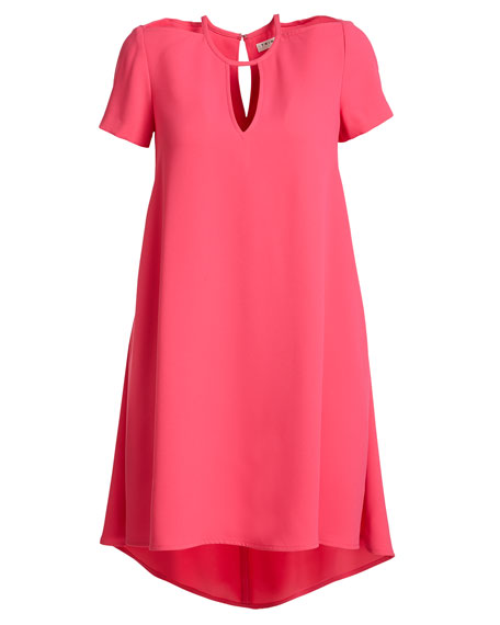 Floramaria Crepe Keyhole Swing Dress