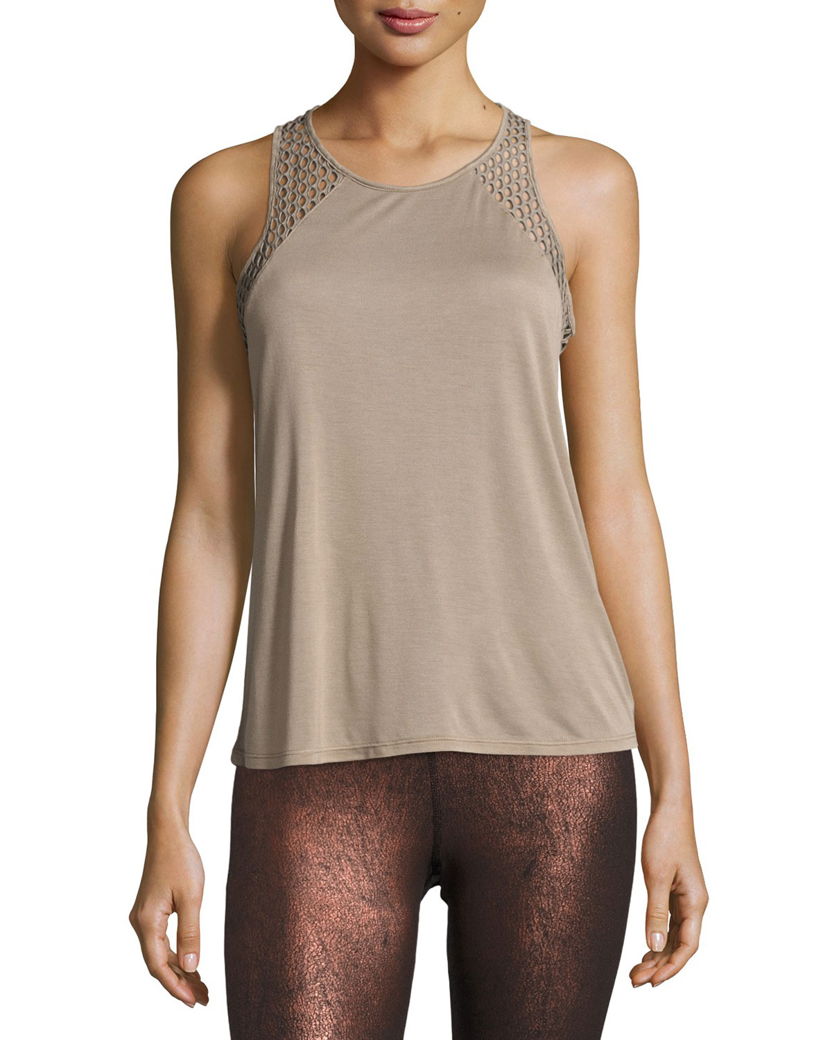 23fd6404ff272 Alo Yoga Cage Open-Back Performance Tank Top