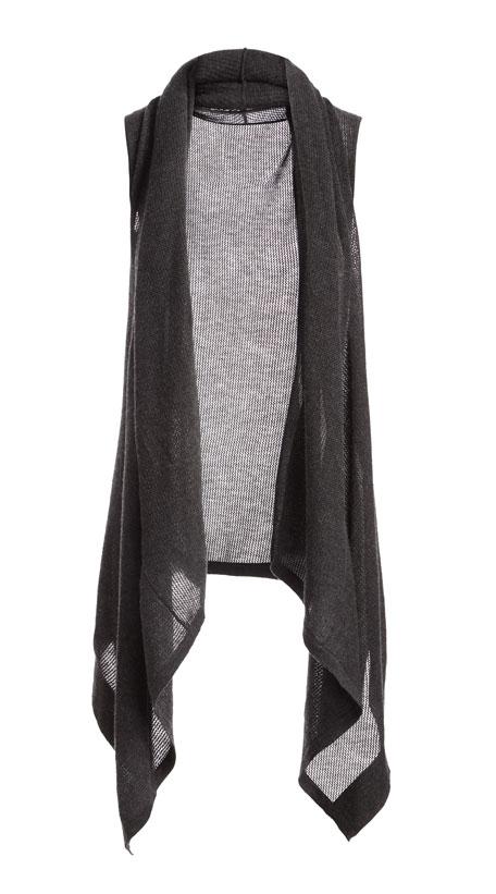Superfine Cashmere Mesh Hooded Vest