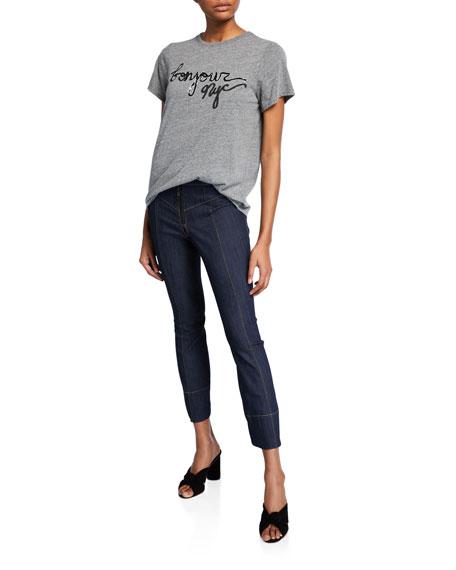 cinq a sept Tous Les Jours Kirim Mid-Rise Straight-Leg Ankle Denim Pants