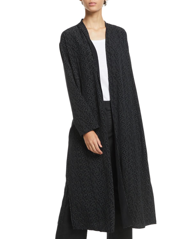 4ee08ad157b Eileen Fisher Morse Code Long Kimono Jacket