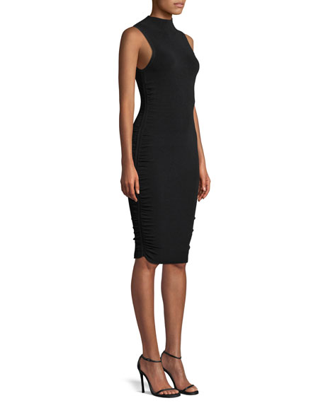 Milly Shirred-Side Sheath Dress
