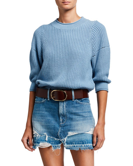 FRAME Drop-Needle Crewneck Sweater