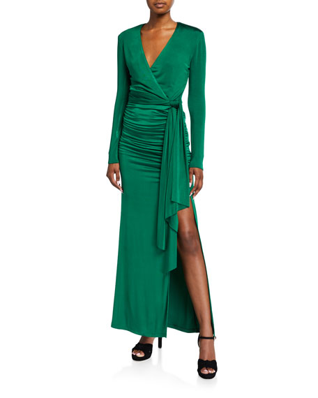 Image 1 of 4: Kyra Deep V Drapey Dress