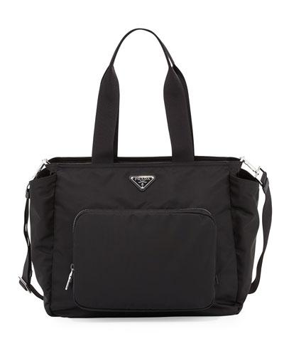 Vela Nylon Baby Bag  Black (Nero)