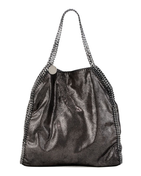 Stella McCartney Falabella Large Tote, Ruthenium