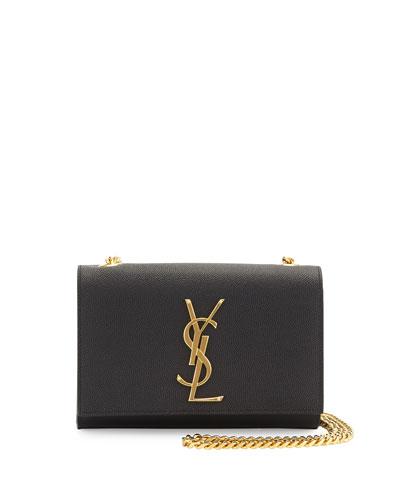 Kate Monogram YSL Leather Crossbody Bag  Black