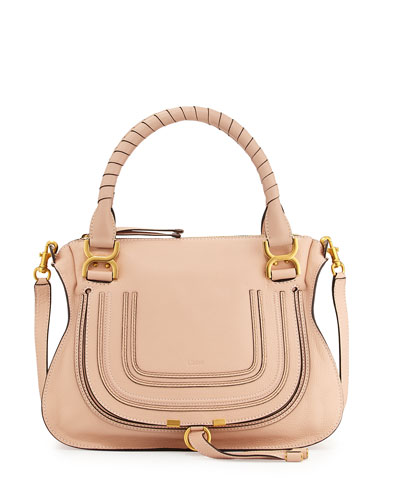 Marcie Medium Shoulder Bag, Blush Nude