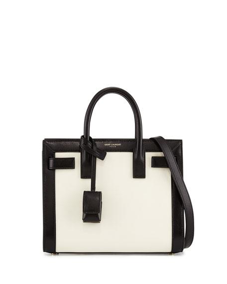 Sac de Jour Mini Crossbody Bag, White/Black