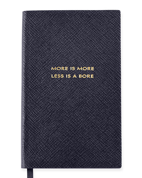 """More is More"" Panama Notebook, Navy"
