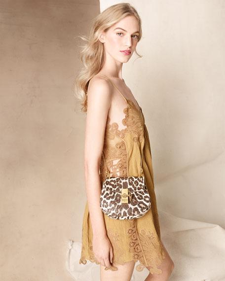 Drew Mini Shoulder Bag, Leopard