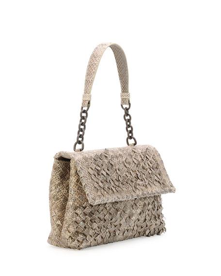 Olimpia Tobu Ayers Shoulder Bag, Natural