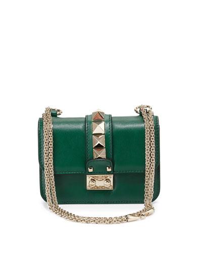 Lock Micro Mini Shoulder Bag, Green