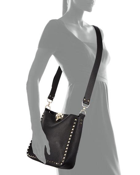 7adf89d3de Valentino Garavani Rockstud Small Flip-Lock Hobo Bag | Neiman Marcus