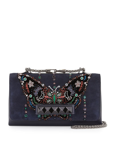 Va-Va-Voom Butterfly Beaded Shoulder Bag