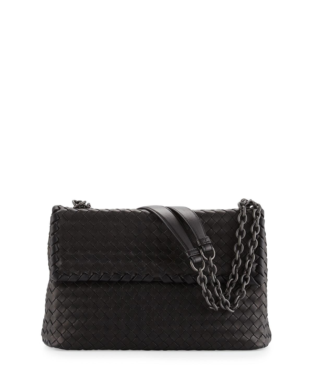 Olimpia Medium Shoulder Bag Black