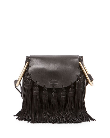 Chloe Hudson Mini Fringe Shoulder Bag, Black