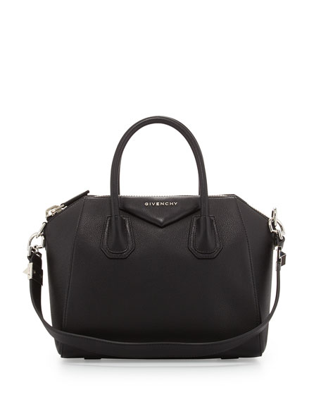 Givenchy Antigona Small Leather Satchel Bag, Black