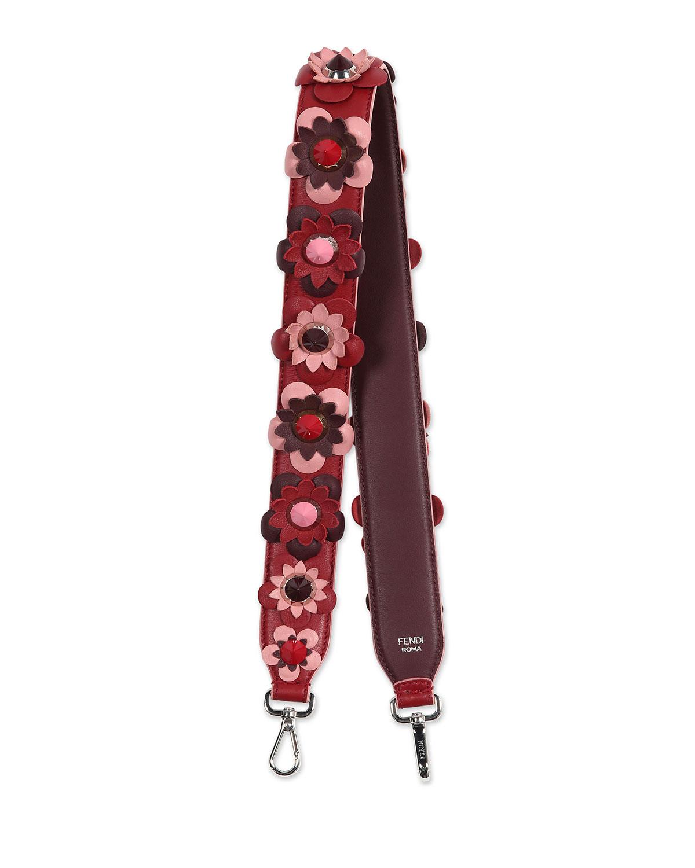 7f4671873cc24 Fendi Strap You Floral Shoulder Strap for Handbag