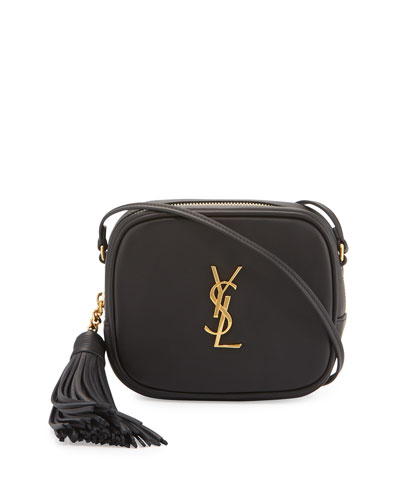 Monogram YSL Blogger Crossbody Bag  Black