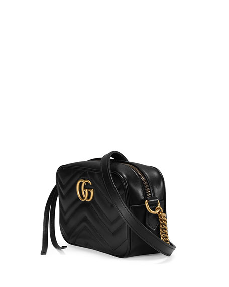 Gucci Gg Marmont Mini Matelasse Camera Bag Black Neiman Marcus