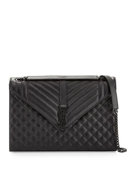 Saint Laurent Monogram Medium Chain Tri-Quilt Shoulder Bag,