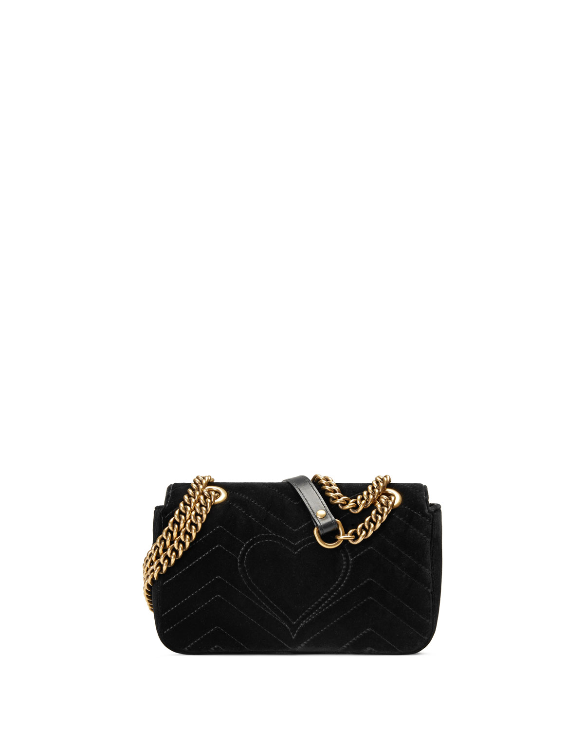 hot-selling latest fine quality so cheap GG Marmont Mini Quilted Velvet Crossbody Bag, Black