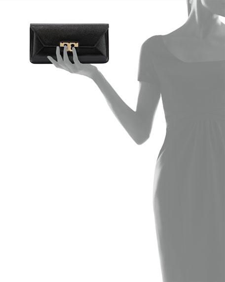 Gigi Leather Clutch Bag