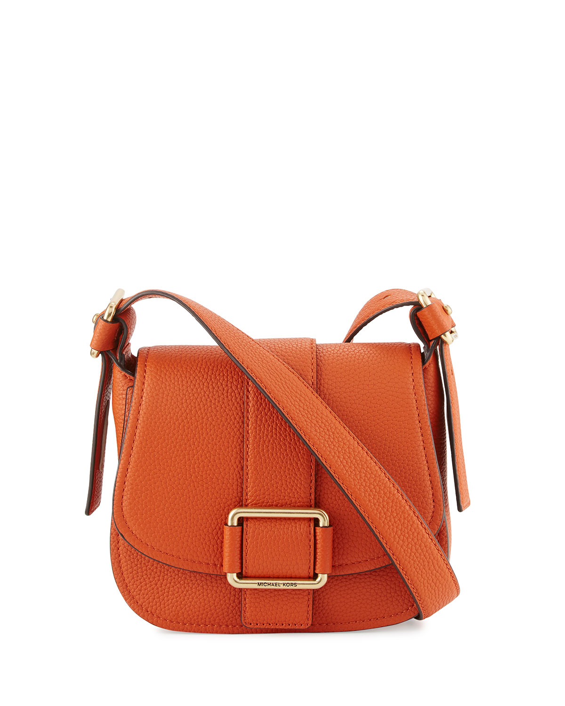 a8611659fedf1 MICHAEL Michael Kors Maxine Medium Leather Saddle Bag