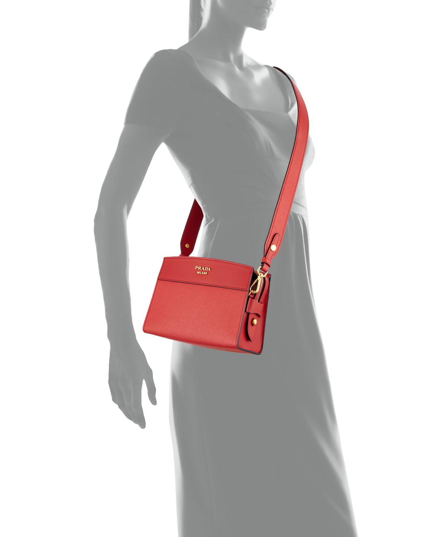 b7d81a741 Prada Esplanade Saffiano Crossbody Bag | Neiman Marcus