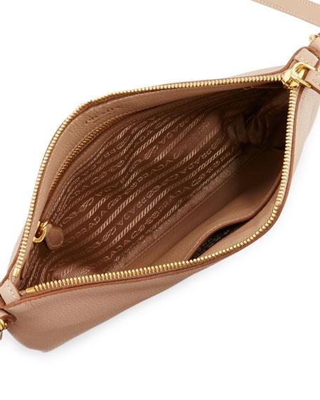 Vitello Daino Medium Pouch Crossbody Bag