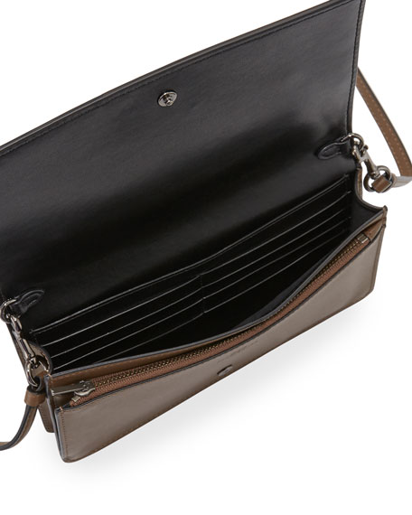Western-Rivets Fold-Over Crossbody Bag
