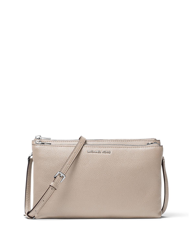 45a8d188f4fd MICHAEL Michael Kors Adele Double-Zip Crossbody Bag
