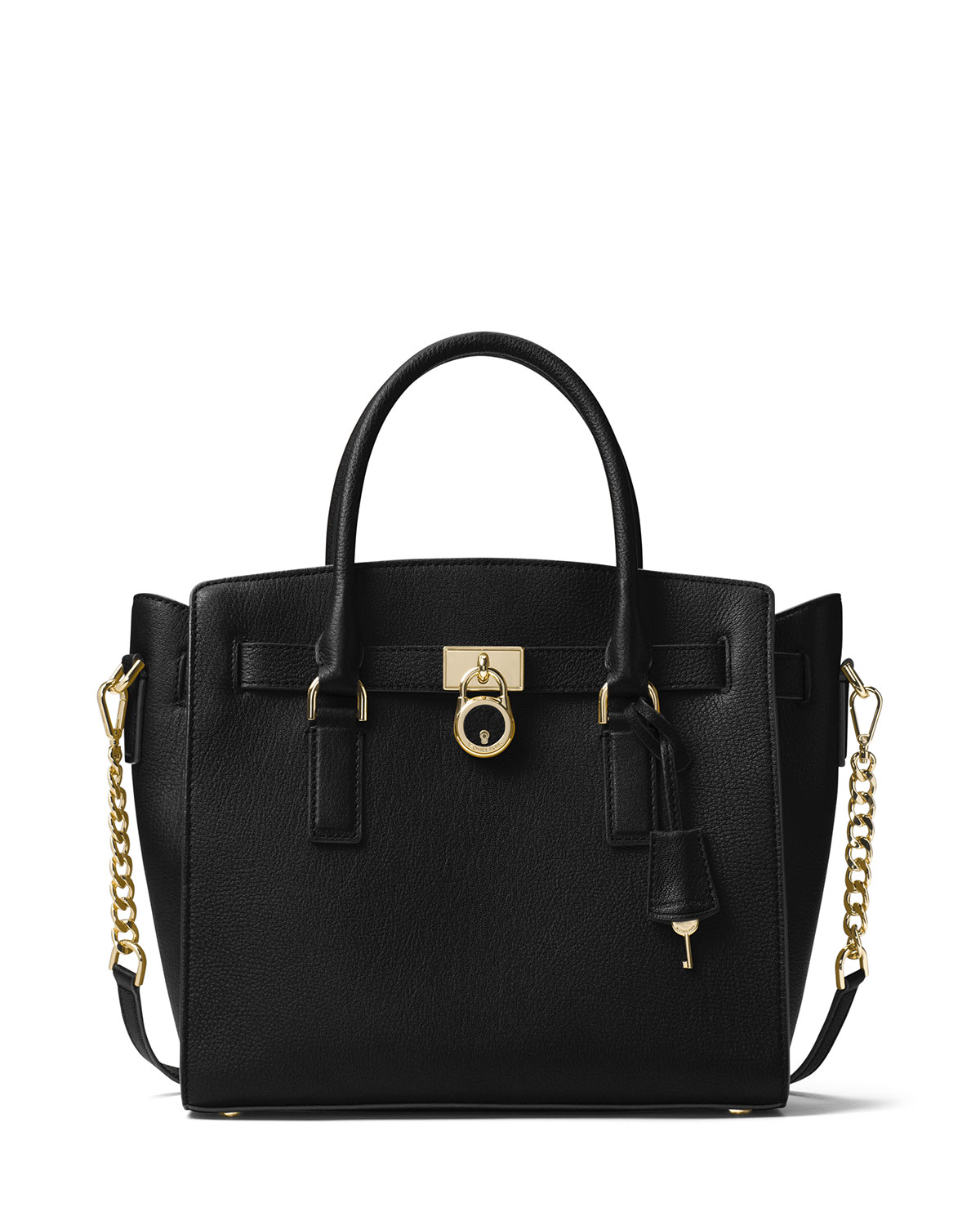 43a0d6f055e9 MICHAEL Michael Kors Hamilton Large East-West Leather Satchel Bag ...