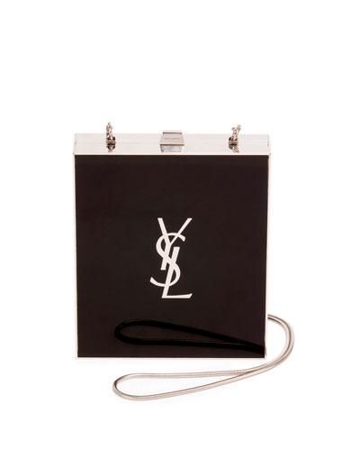 Tuxedo Box Minaudiere  Black/Silver