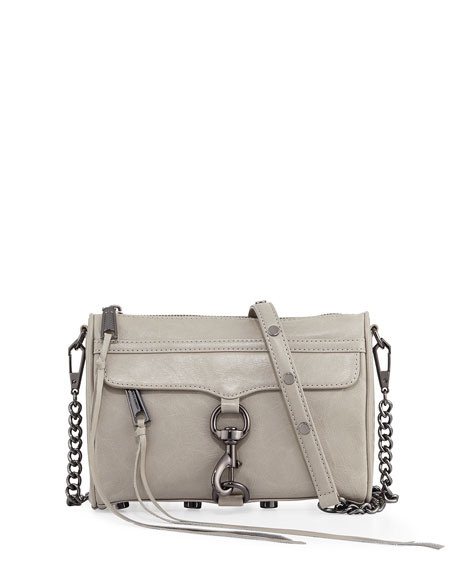Mini MAC Distressed Leather Crossbody Bag