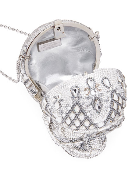 Image 2 of 3: Katerina Crystal Skull Clutch Bag