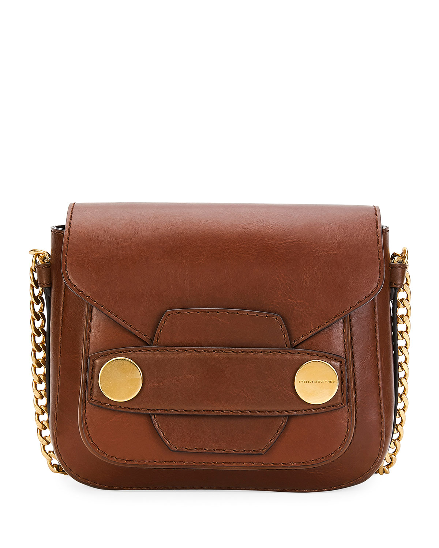 09bce25c2f3b Stella McCartney Popper Mini Faux-Leather Shoulder Bag