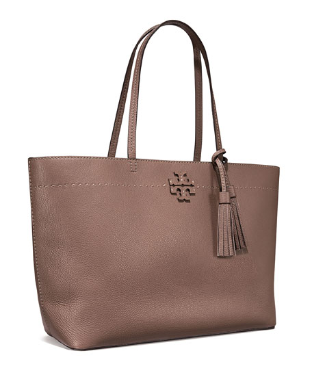 f5bd24882cf8 Tory Burch McGraw Pebbled Leather Tote Bag